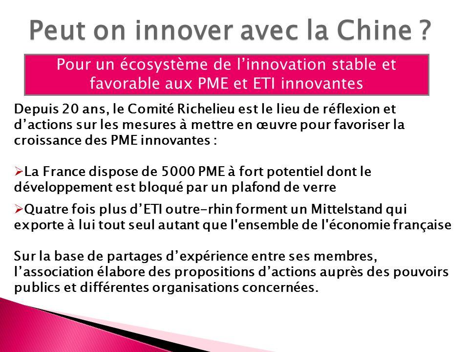Depuis 20 ans, le Comité Richelieu est le lieu de réflexion et dactions sur les mesures à mettre en œuvre pour favoriser la croissance des PME innovan