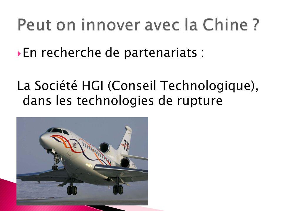 En recherche de partenariats : La Société HGI (Conseil Technologique), dans les technologies de rupture