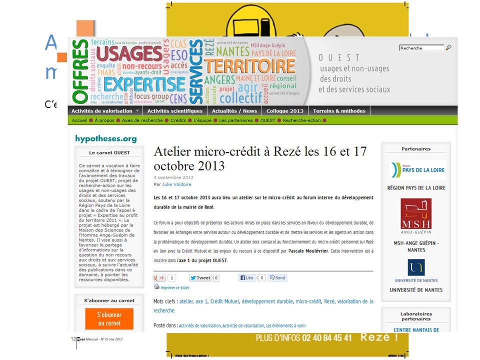 Cest loccasion de communiquer ! Forum interne du développement durable 16 et 17 octobre 2013