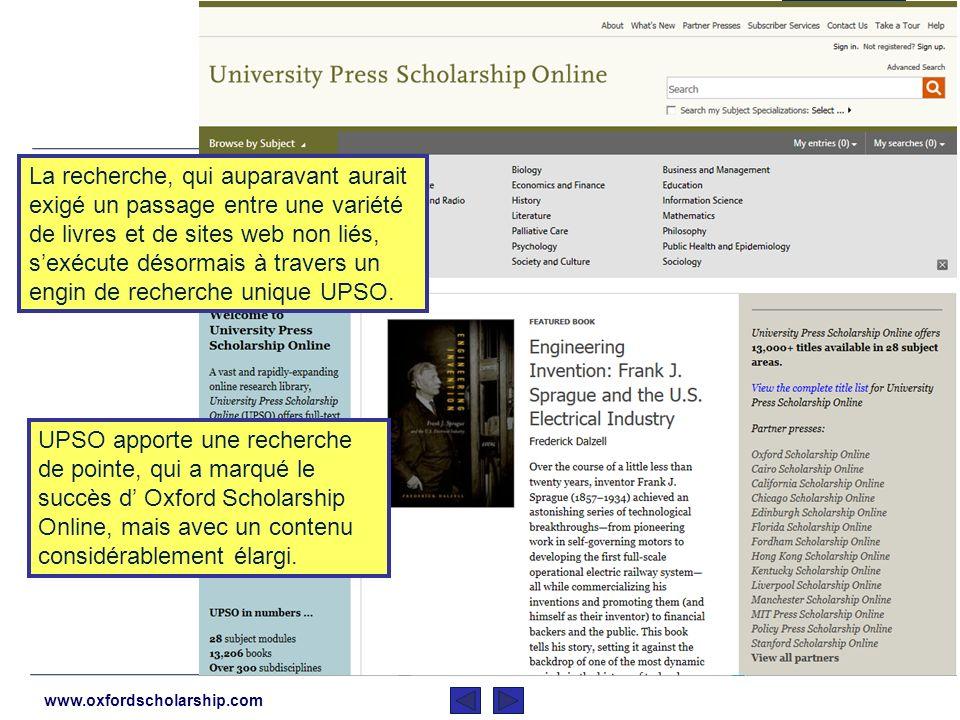 www.oxfordscholarship.com L « University Press Scholarship Online (UPSO) » unit les meilleures études érudites à travers le monde Lagrégation du conte