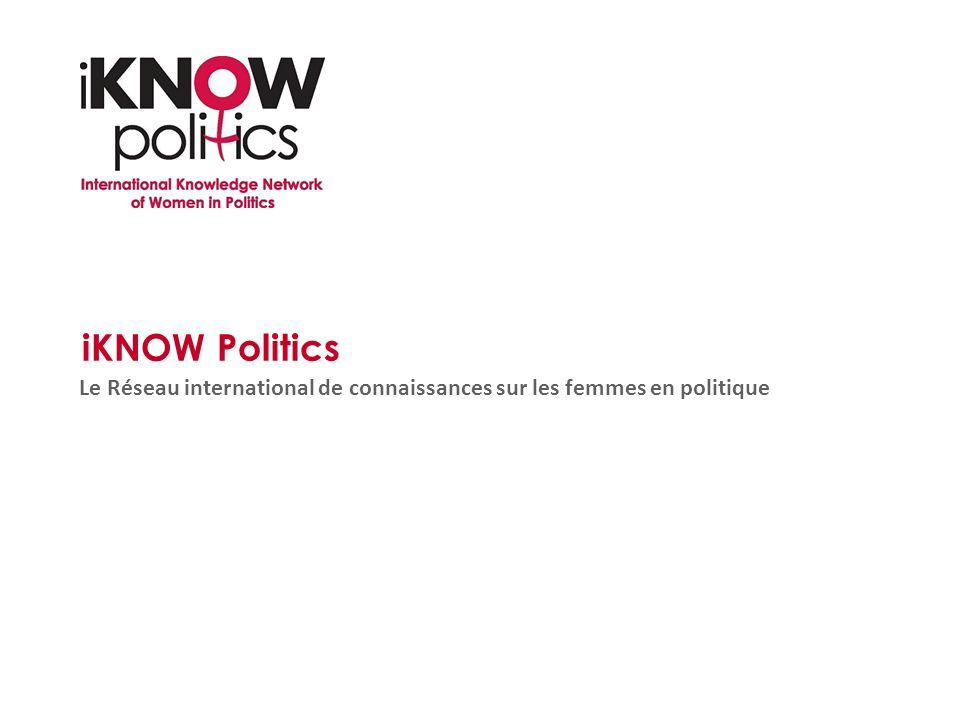 iKNOW Politics Le Réseau international de connaissances sur les femmes en politique