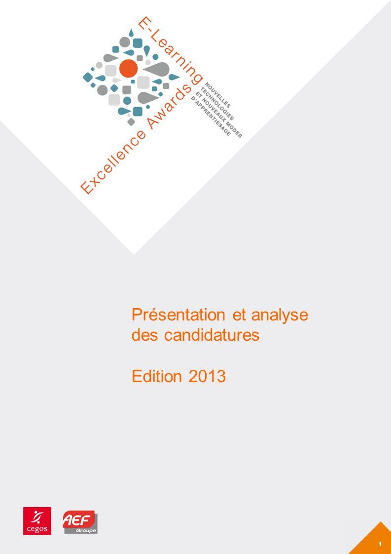 Présentation et analyse des candidatures Edition 2013 1