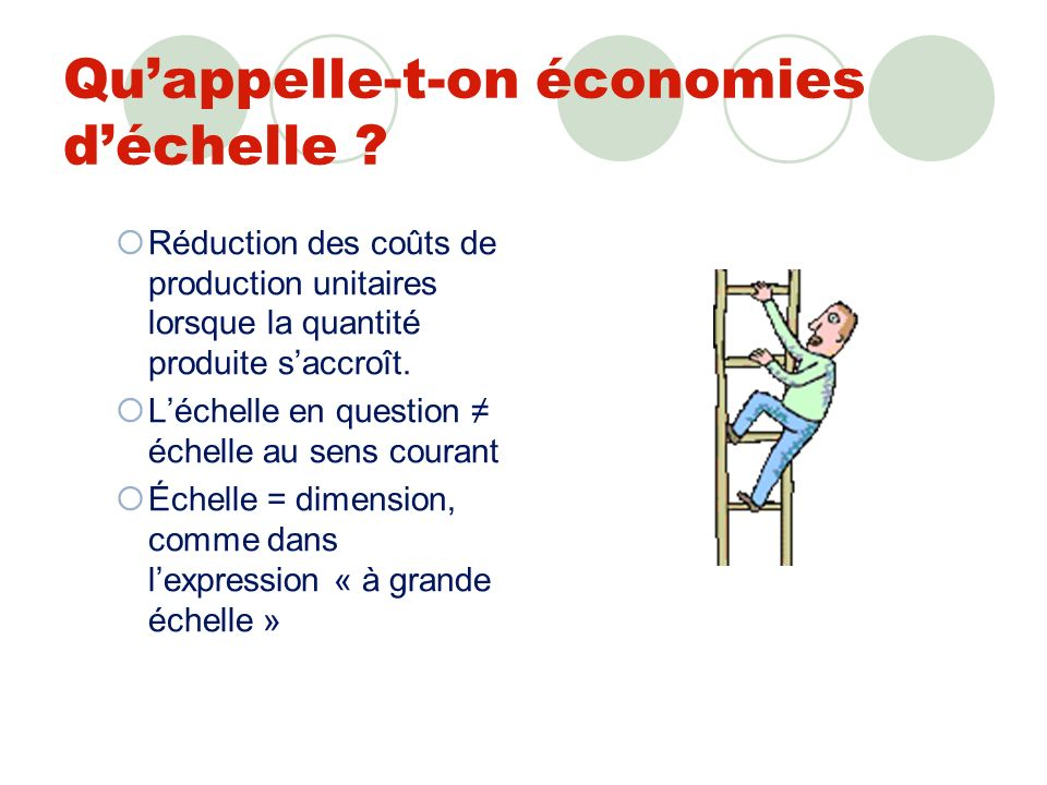 La notion d«économies déchelle » Applications contemporaines