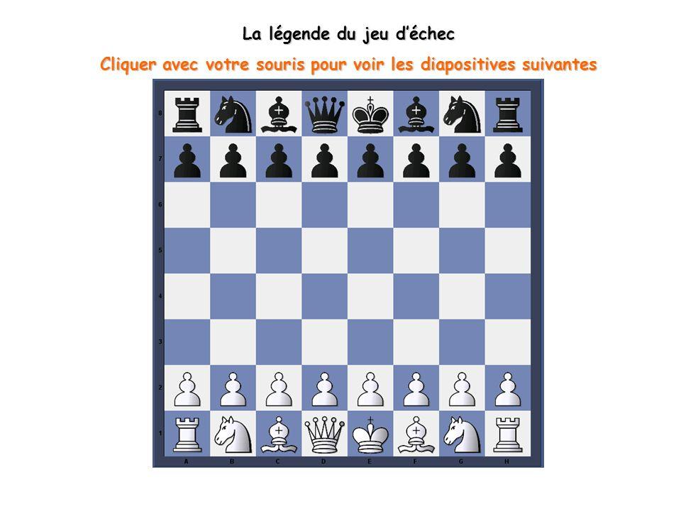 Le mythe du brahmane Sissa La légende la plus célèbre sur l origine du jeu d échecs raconte l histoire du roi Belkib qui cherchait à tout prix à tromper son ennui.