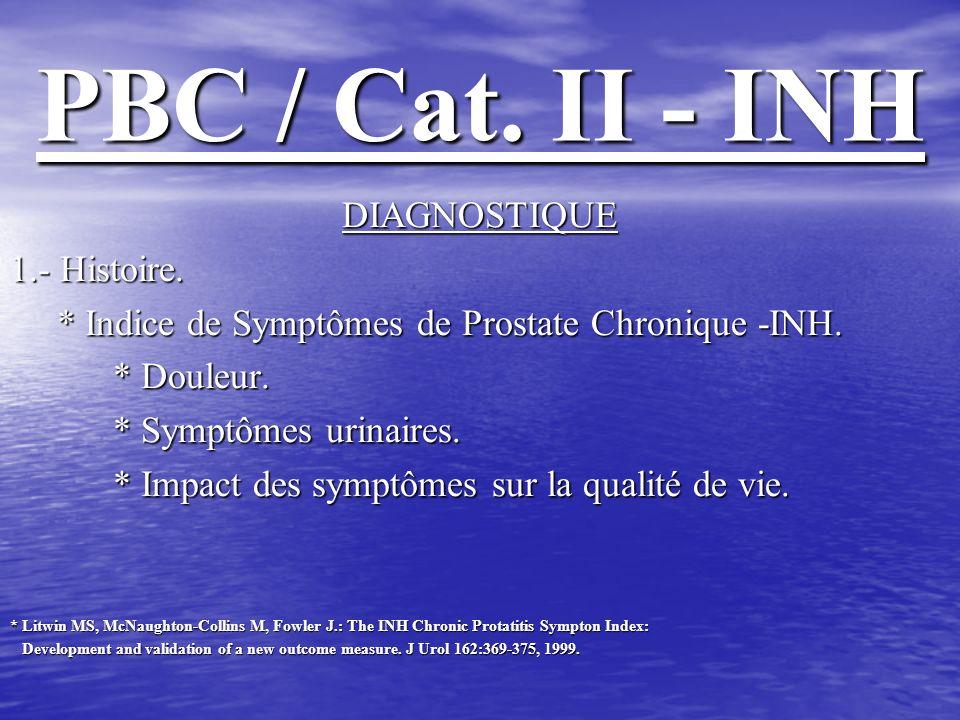PBC / Cat.II - INH DIAGNOSTIQUE 2.- Épreuve physique.