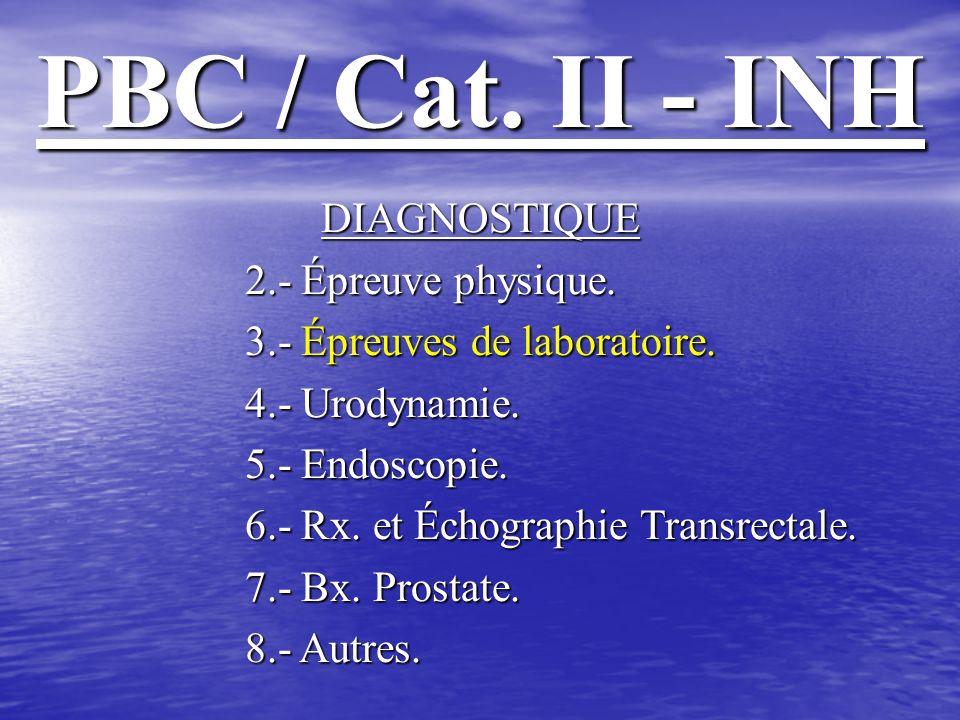PBC / Cat.II - INH * OBJECTIF: Valider la spermeculture dans le diagnostique de PBC / Cat.