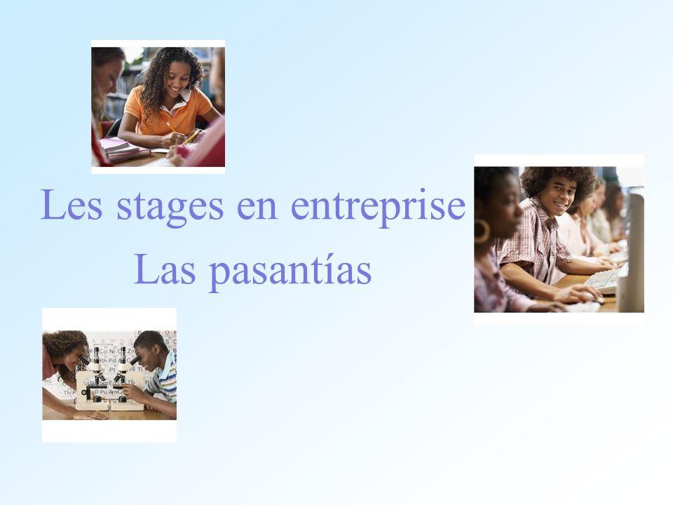 Les stages en entreprise Las pasantías