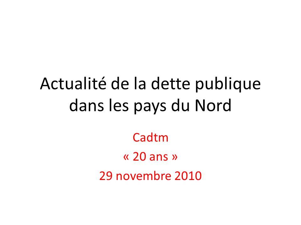 Actualité de la dette publique dans les pays du Nord Cadtm « 20 ans » 29 novembre 2010