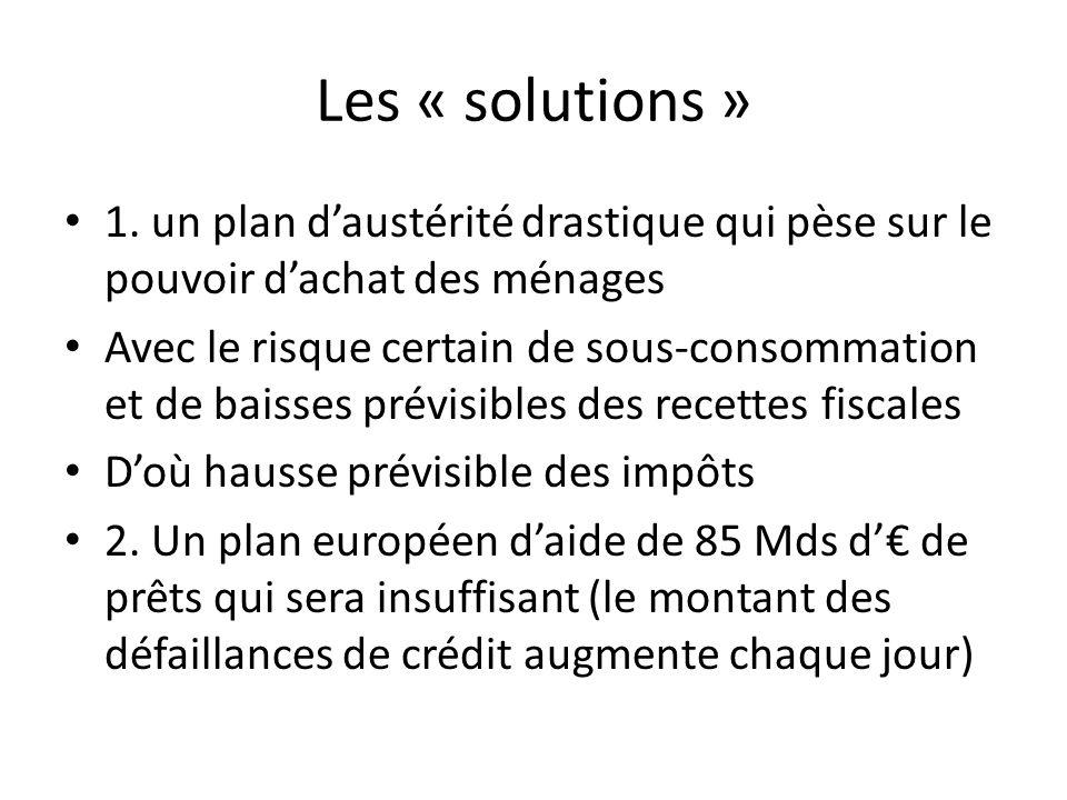 Les « solutions » 1.