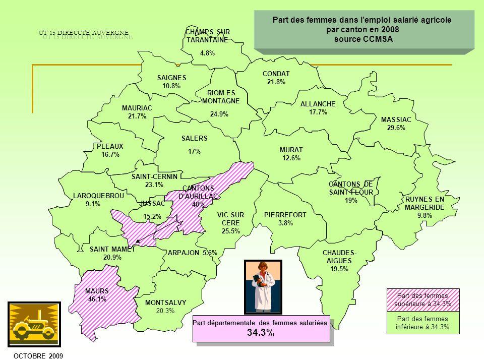 CONDAT 21.8% RIOM ES MONTAGNE 24.9% SALERS 17% CHAMPS SUR TARANTAINE 4.8% SAIGNES 10.8% MAURIAC 21.7% PLEAUX 16.7% ALLANCHE 17.7% MASSIAC 29.6% CANTON