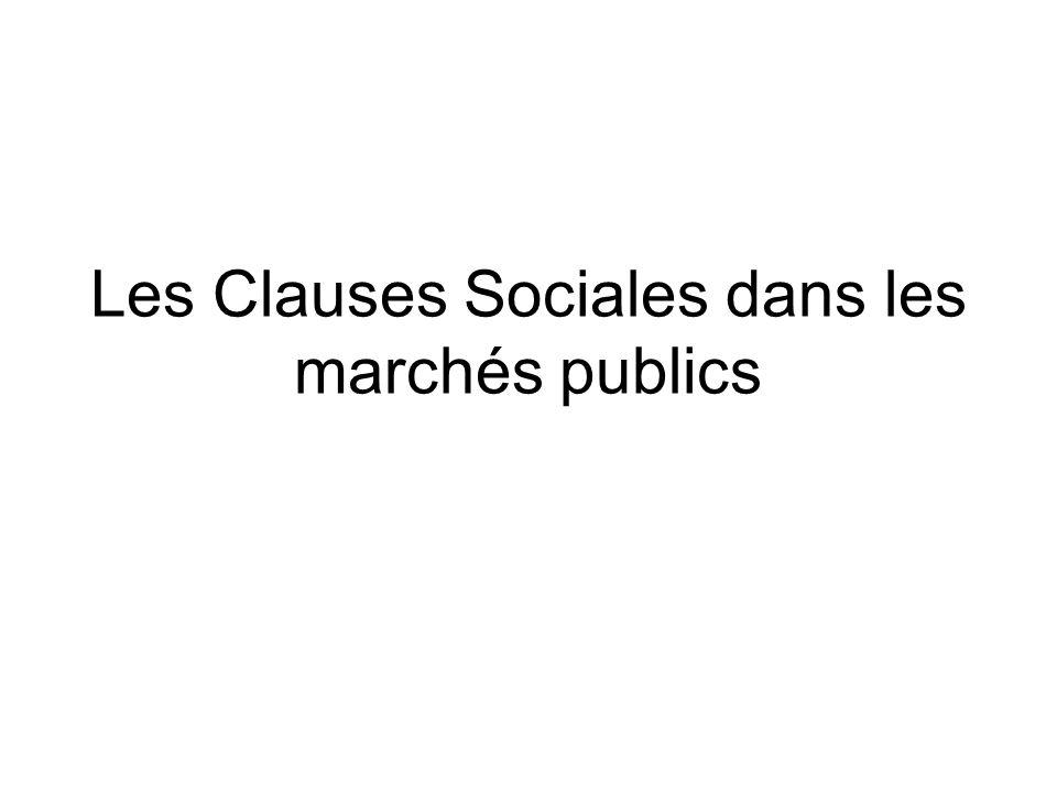 Article 5 du Code des Marchés Publics (2006) : il impose aux acheteurs publics de prendre en compte lorsquils en ont la possibilité (et sauf à justifier quils ne le peuvent pas) les objectifs de développement durable dans leur achats.