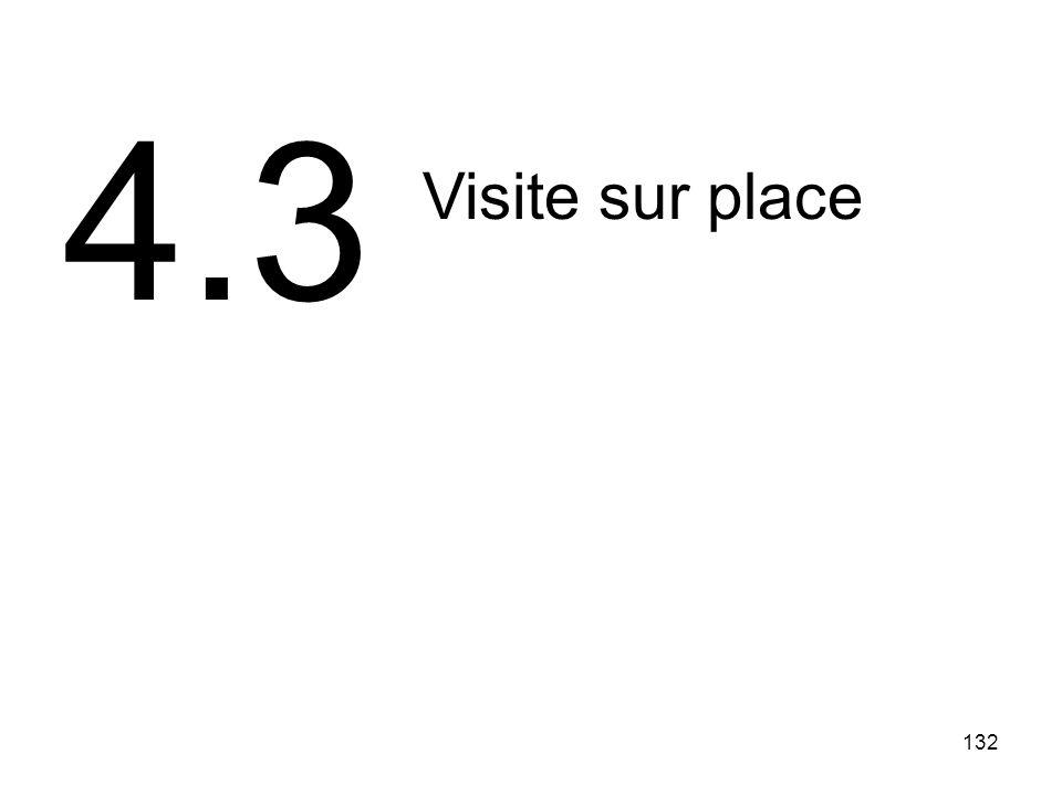 132 Visite sur place 4.3