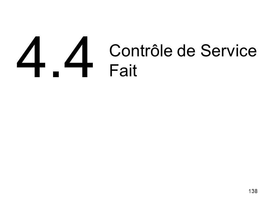 138 Contrôle de Service Fait 4.4