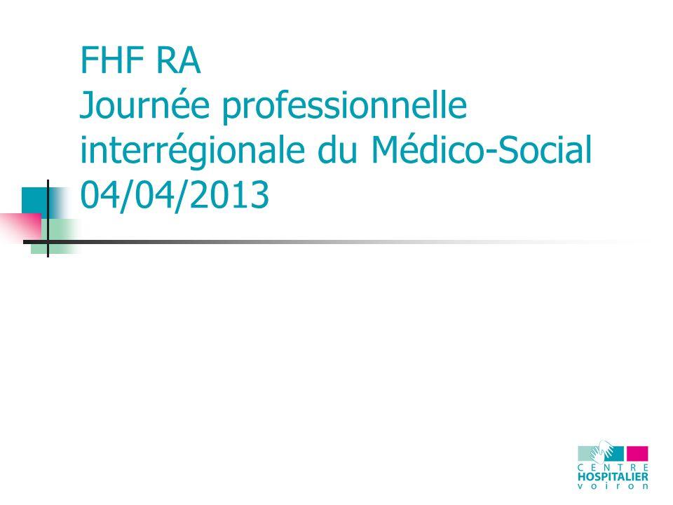 FHF RA Journée professionnelle interrégionale du Médico-Social 04/04/2013