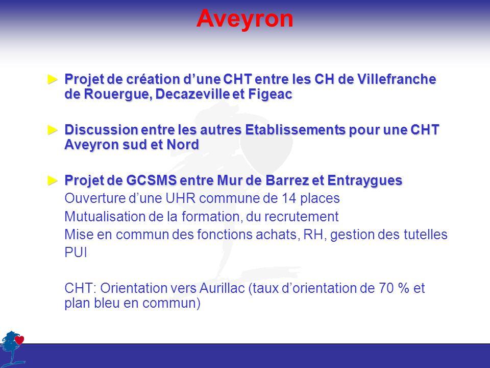 Aveyron Projet de création dune CHT entre les CH de Villefranche de Rouergue, Decazeville et FigeacProjet de création dune CHT entre les CH de Villefr