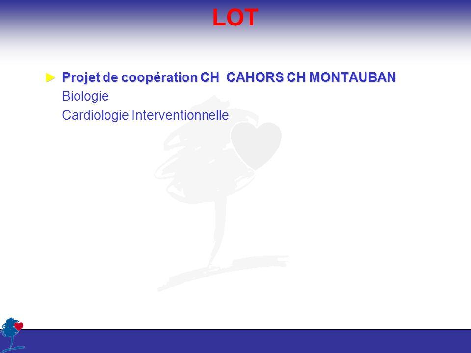 LOT Projet de coopération CH CAHORS CH MONTAUBANProjet de coopération CH CAHORS CH MONTAUBAN Biologie Cardiologie Interventionnelle