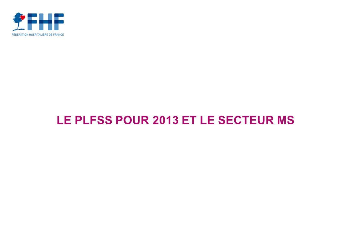 LE PLFSS POUR 2013 ET LE SECTEUR MS