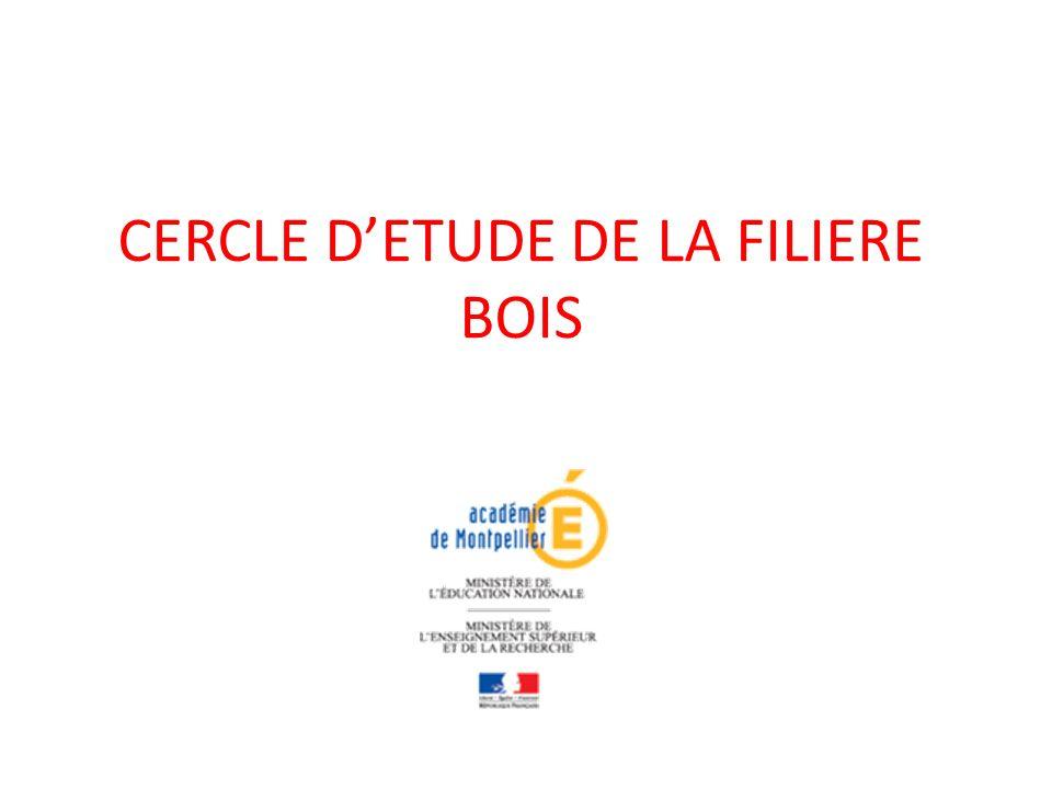 CERCLE DETUDE DE LA FILIERE BOIS