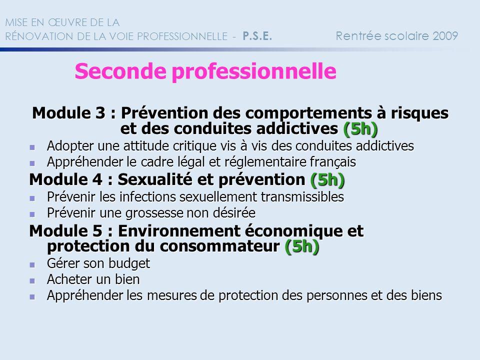 Module 3 : Prévention des comportements à risques et des conduites addictives (5h) Adopter une attitude critique vis à vis des conduites addictives Ad