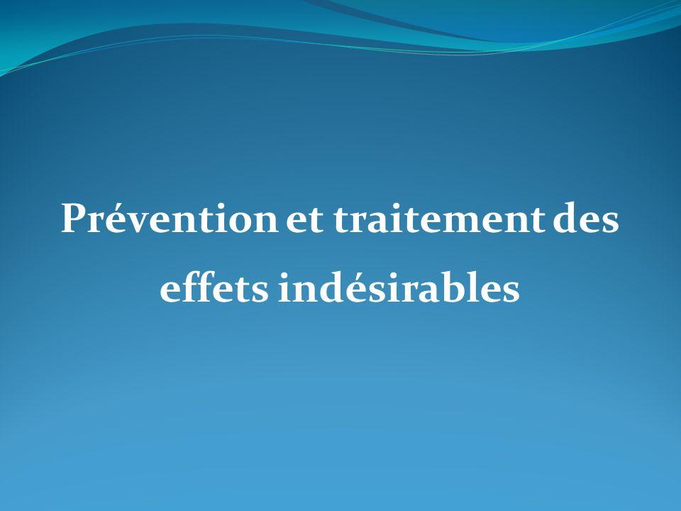 Prévention et traitement des effets indésirables