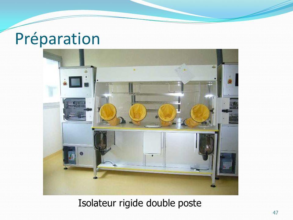 Préparation 47 Isolateur rigide double poste