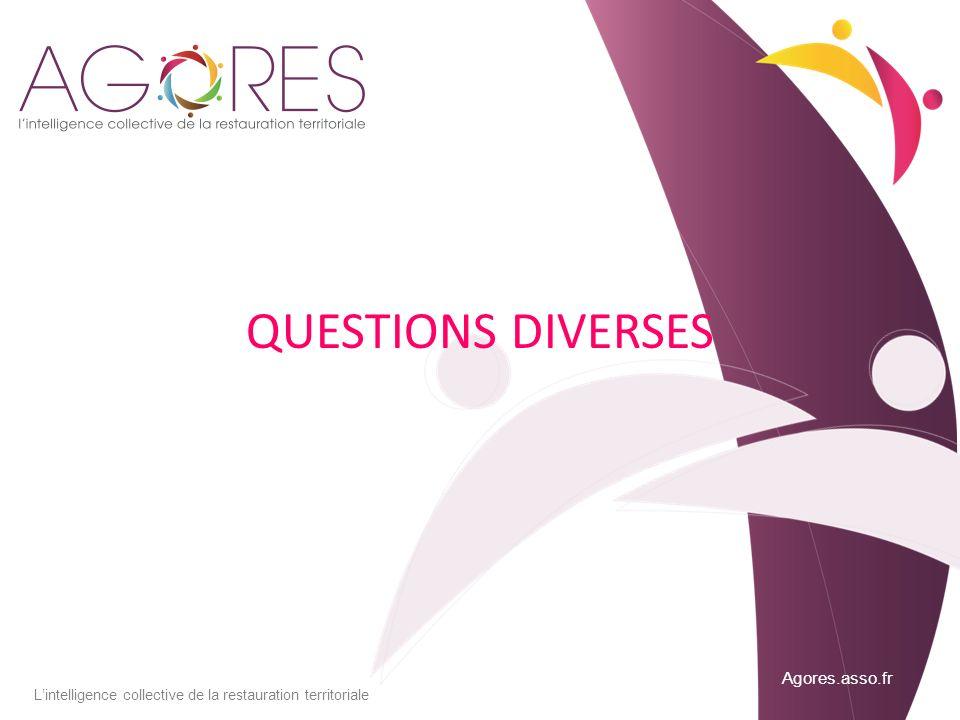 Agores.asso.fr Lintelligence collective de la restauration territoriale QUESTIONS DIVERSES