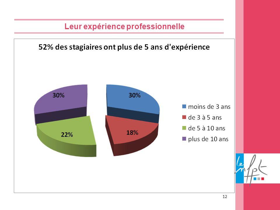 Leur expérience professionnelle 12