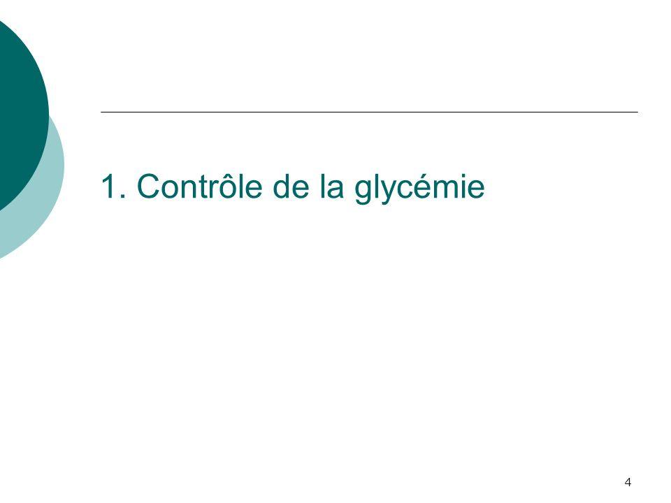 4 1. Contrôle de la glycémie