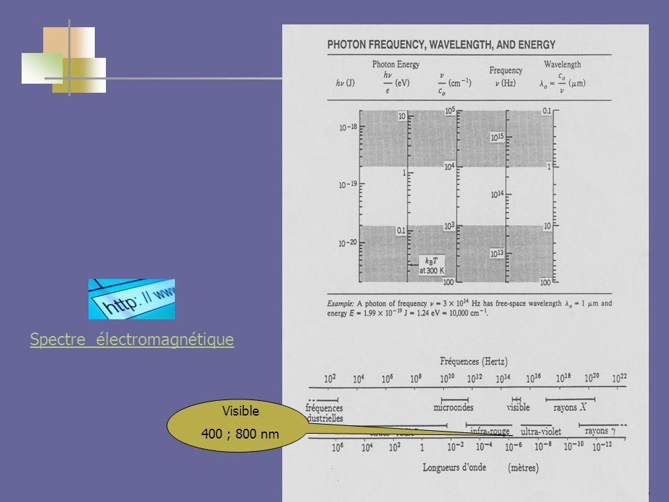 5 Visible 400 ; 800 nm Spectre électromagnétique