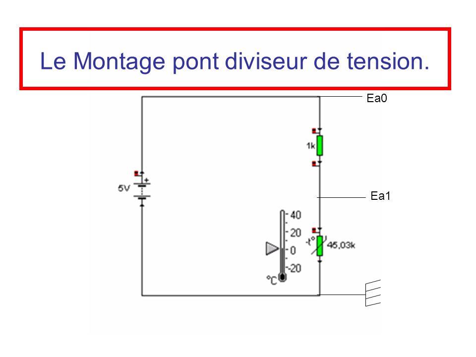 Le Montage pont diviseur de tension. Ea1 Ea0