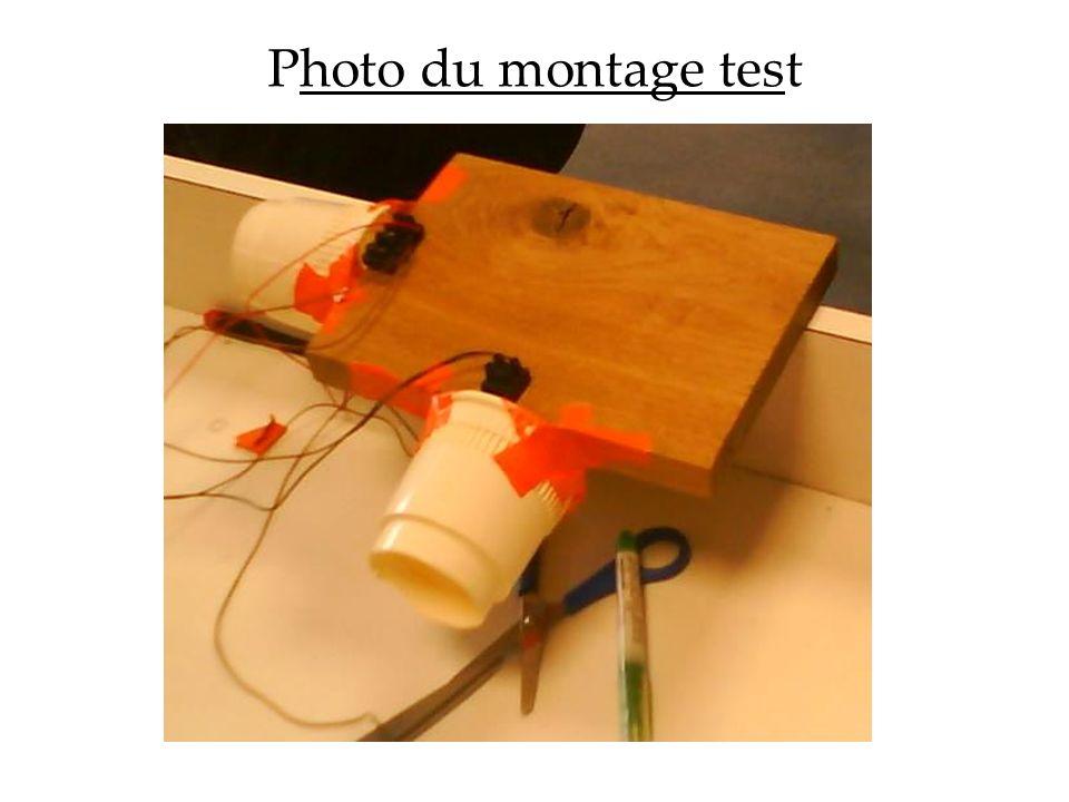 Photo du montage test