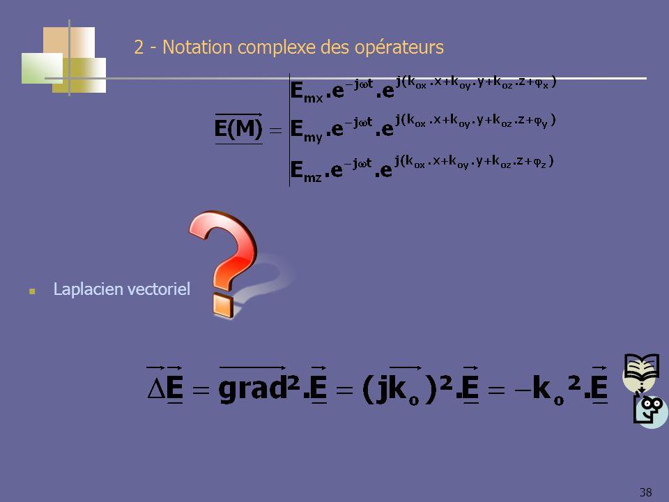 38 Laplacien vectoriel 2 - Notation complexe des opérateurs