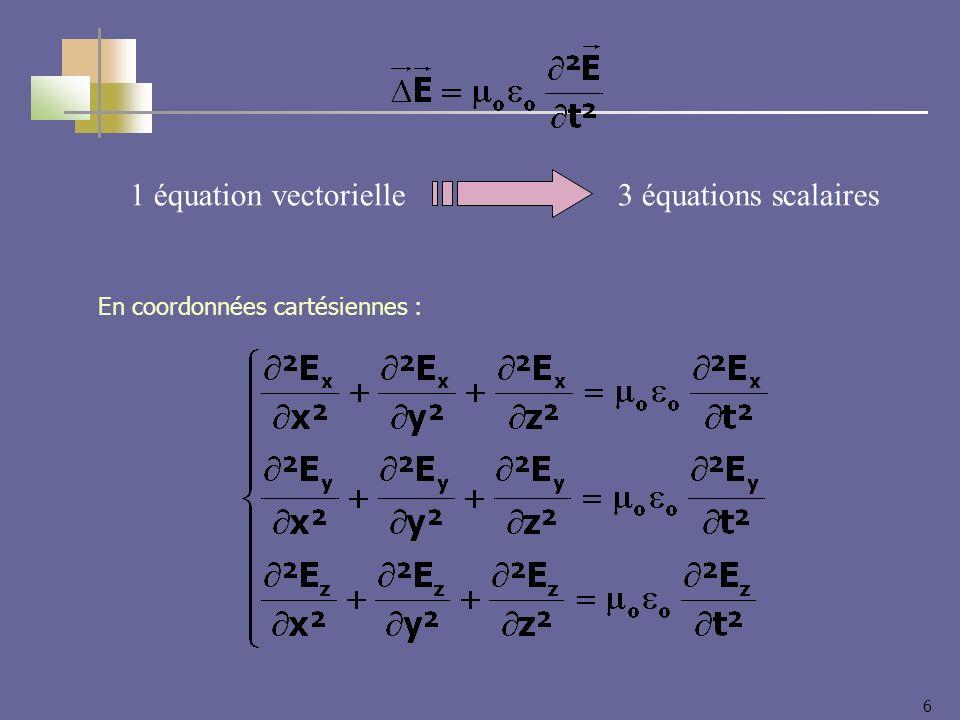 6 1 équation vectorielle3 équations scalaires En coordonnées cartésiennes :