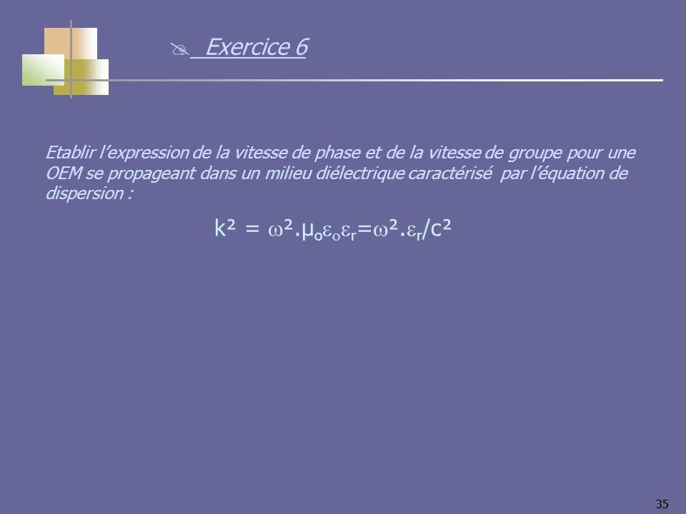 35 k² = ².µ o r = ².