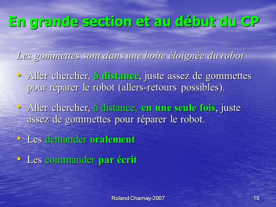 Roland Charnay-200716 Le travail sur fiche ne remplace pas l expérience… mais peut la prolonger.