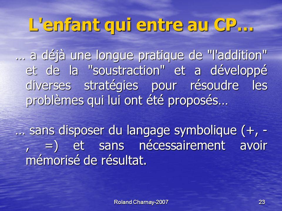 Roland Charnay-200724 Un schéma pour le travail sur les opérations au cycle 2 Procédures Langageverbal puis symbolique Explications Problèmes
