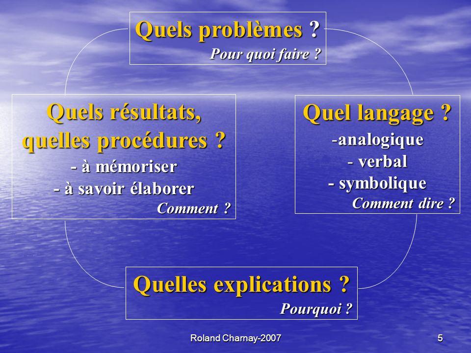 Roland Charnay-20075 Quels résultats, quelles procédures .