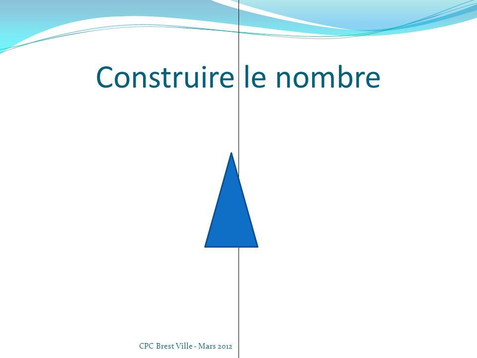 CPC Brest Ville - Mars 2012 Mémoire de la quantité Comparer des collections Les boites empilées (daprès Ermel Gs/CP) Préparer des boites contenant un certain nombre dobjets (3, 5, 4, 1, 2, 4…).