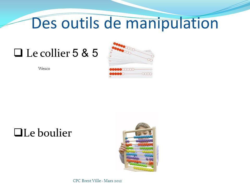 CPC Brest Ville - Mars 2012 Des outils de manipulation Le collier 5 & 5 Wesco Le boulier