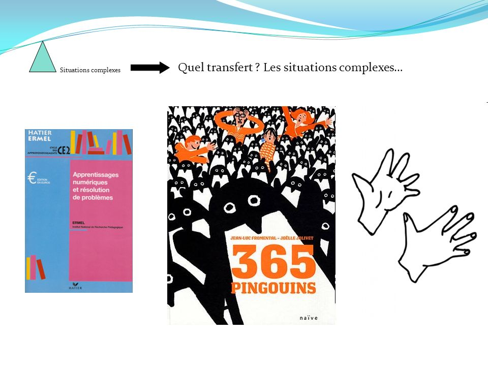 Quel transfert ? Les situations complexes… Situations complexes