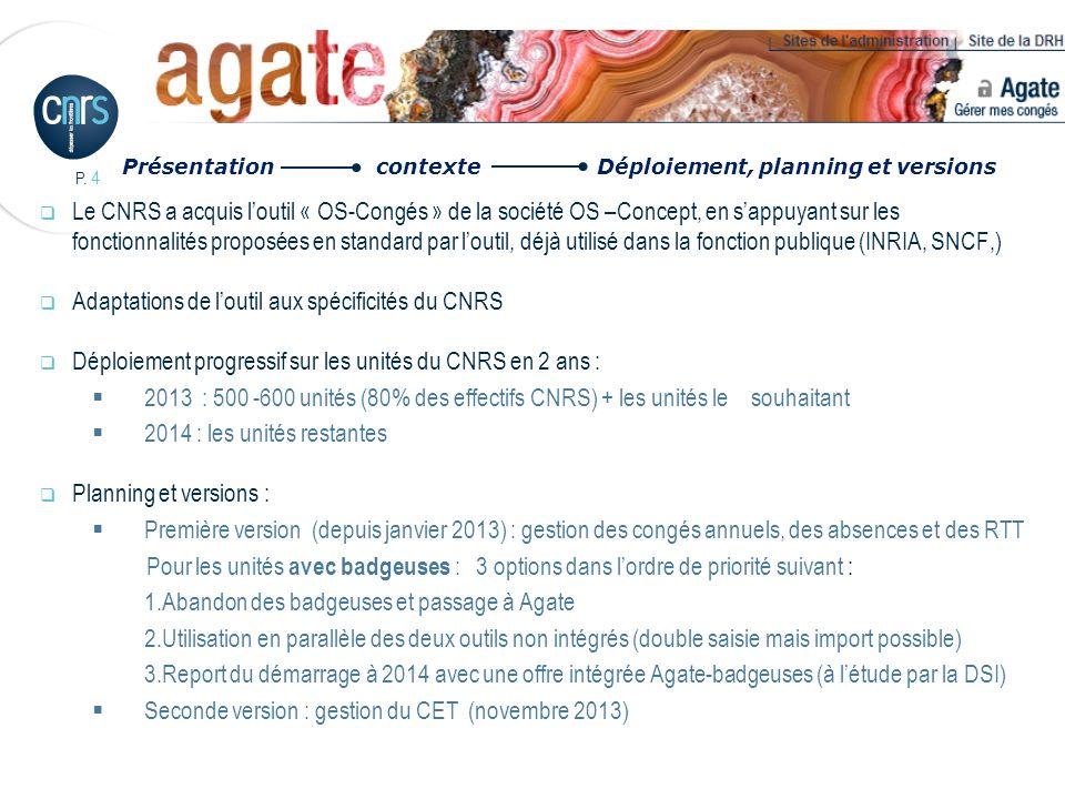 P.75 Cas des directeurs dunité : Les DU (identifiés dans Labintel) sont repérés dans AGATE.