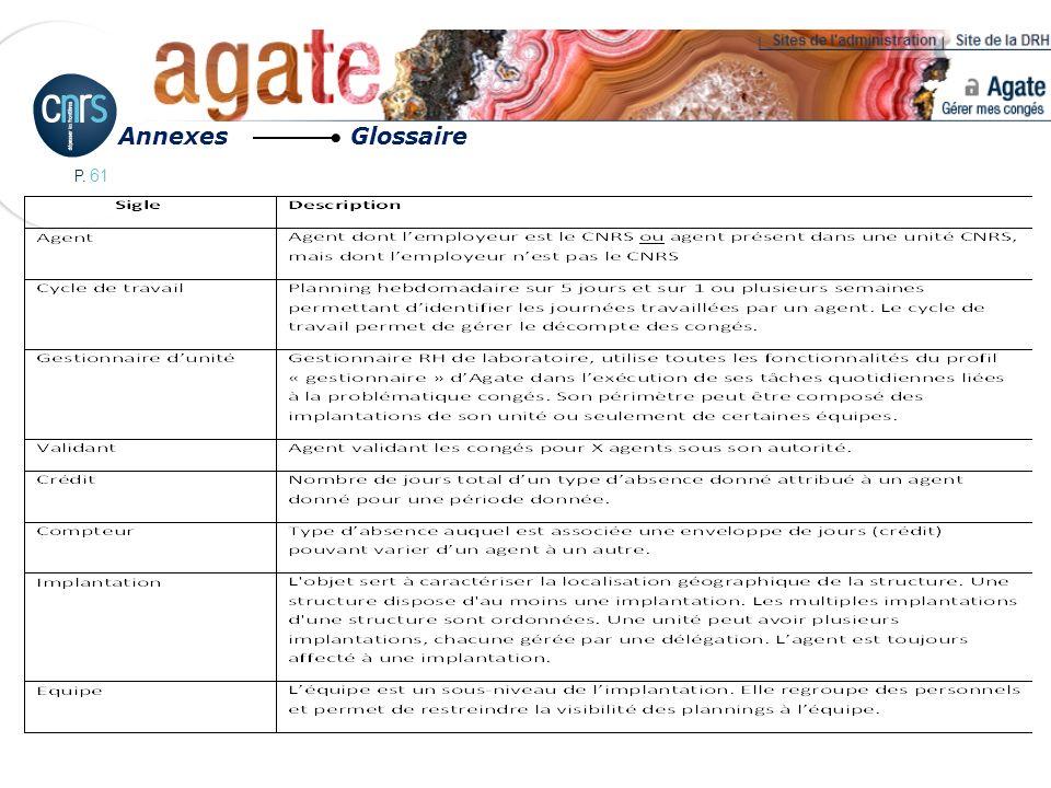 P. 61 Annexes Glossaire