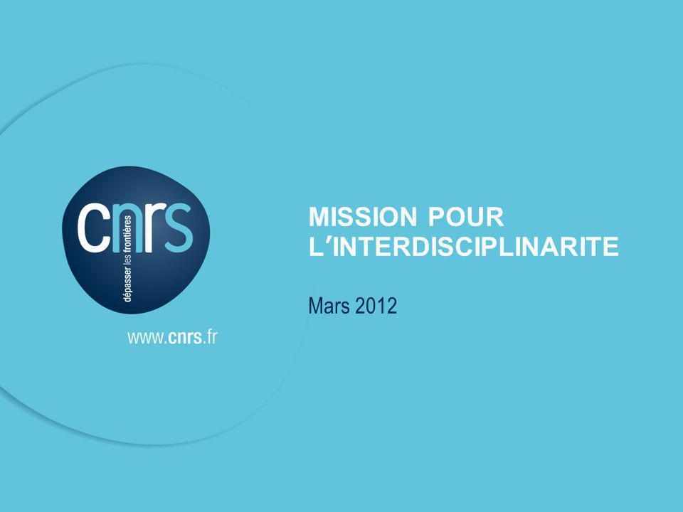 Intervenant l mentions légales. P. 1 l CNRS - MI MISSION POUR LINTERDISCIPLINARITE Mars 2012