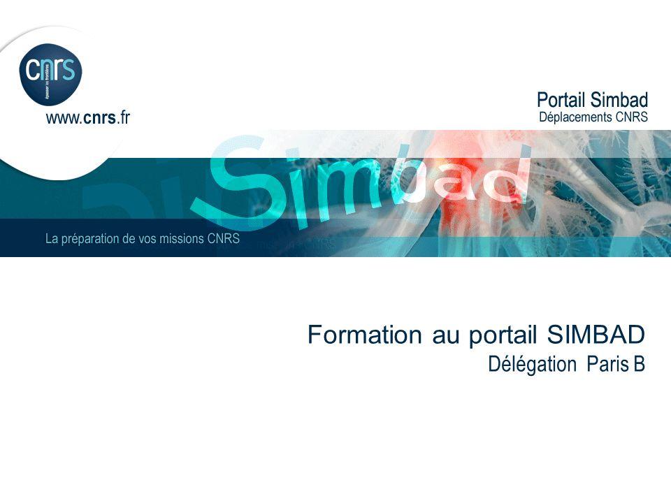 Formation au portail SIMBAD Délégation Paris B