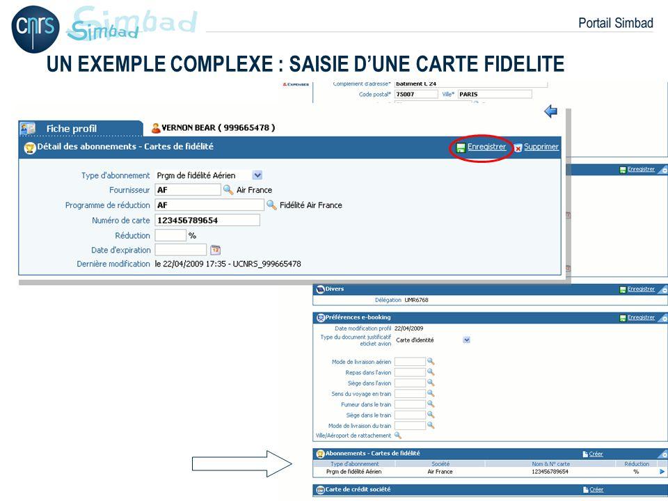 P. 36 UN EXEMPLE COMPLEXE : SAISIE DUNE CARTE FIDELITE