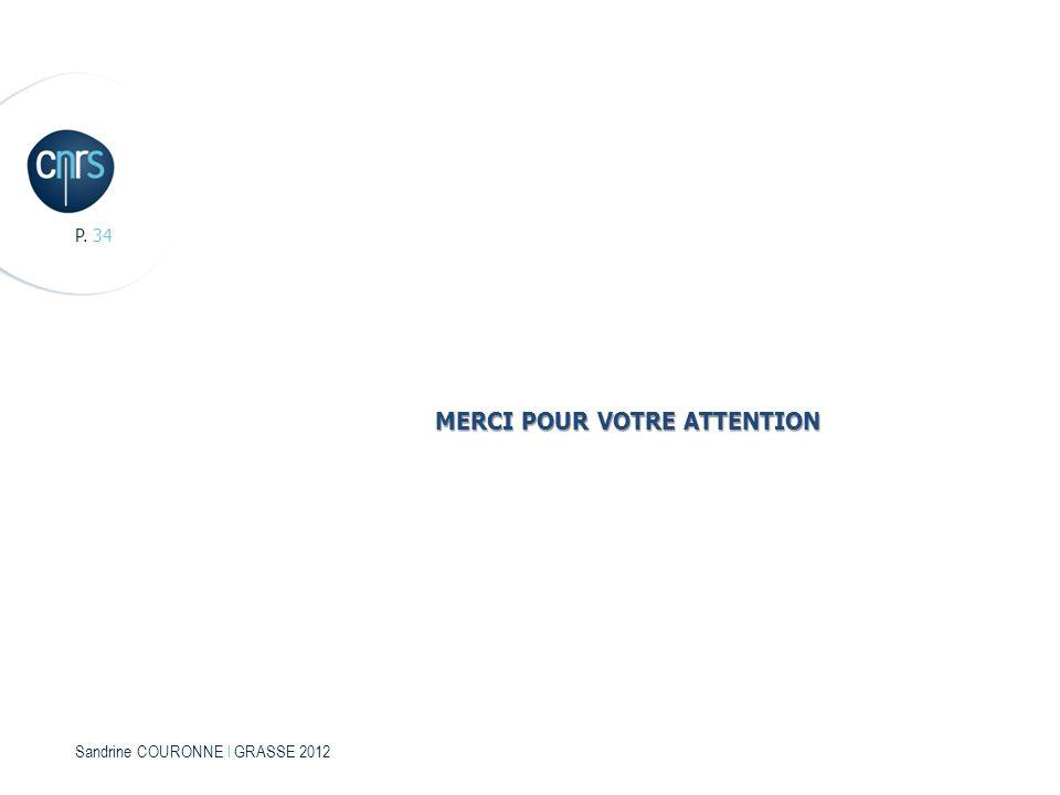 Sandrine COURONNE l GRASSE 2012 P. 34 MERCI POUR VOTRE ATTENTION
