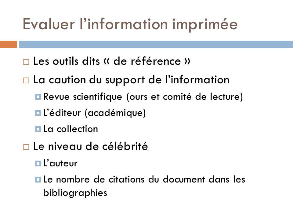Evaluer linformation électronique Le site est-il fiable .