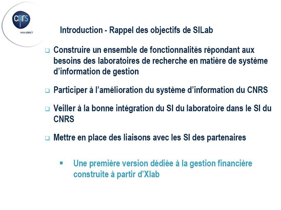 Présentation SIlab – Fonctionnalités Web (6/7) (6/7)