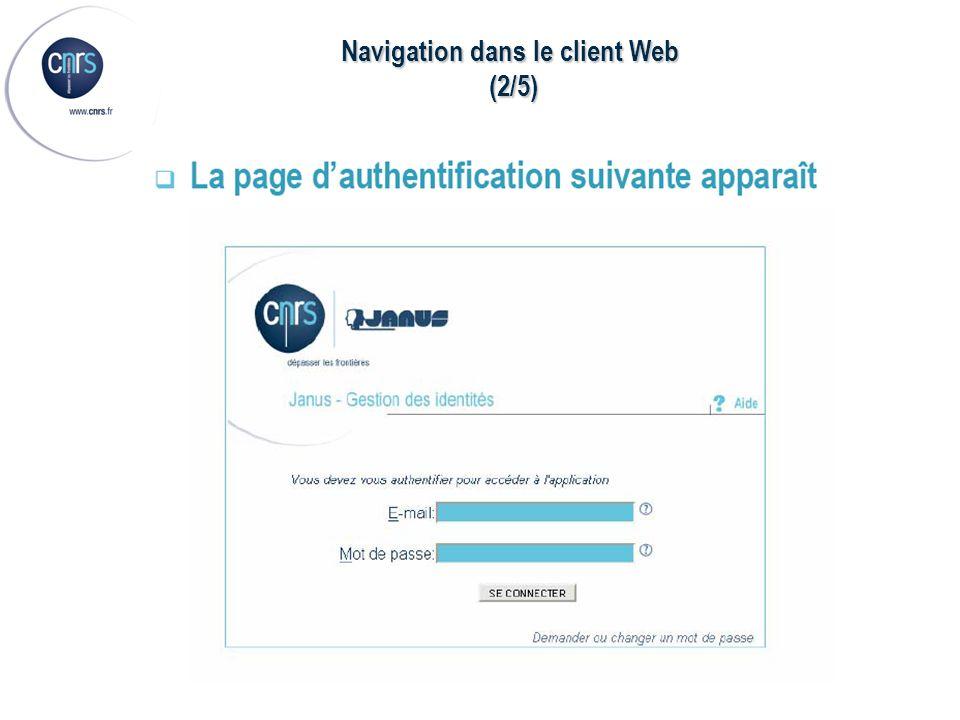 Navigation dans le client Web (2/5) (2/5)