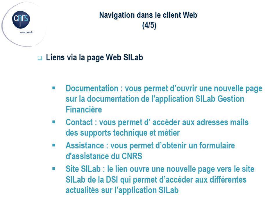 Navigation dans le client Web (4/5) (4/5)